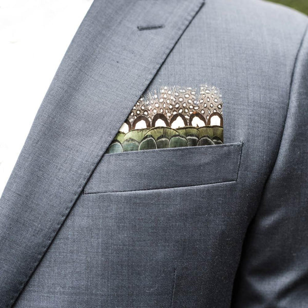 "Brackish ""Big Bay"" Pocket Square"