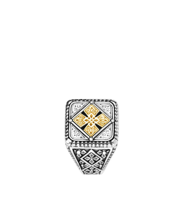 Konstantino Sterling Silver & 18k Gold Classic Ring