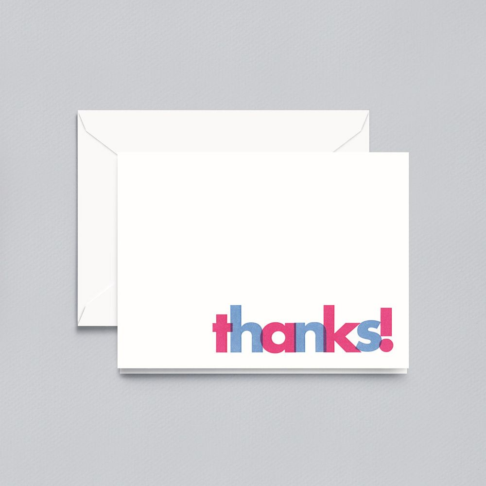 Crane Letterpress Thanks Note