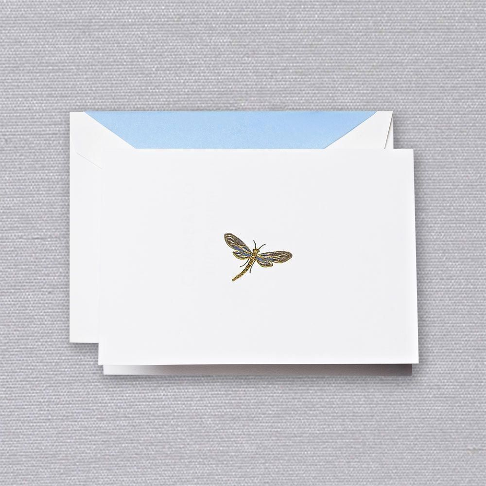 Engraved Dragonfly Note