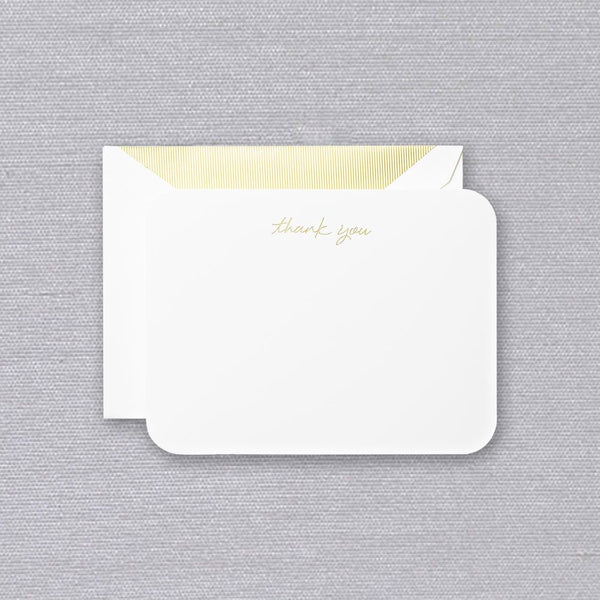 Crane Round Corner Thank You cards