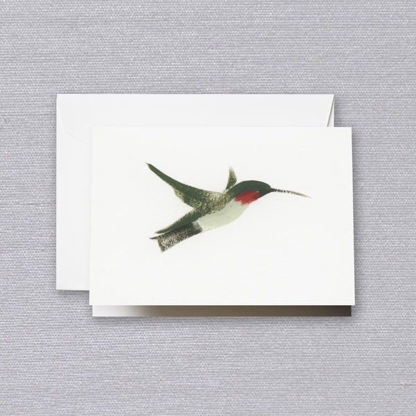 Brushstroke Hummingbird Note