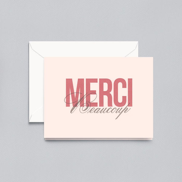 Crane Letterpress Merci Beaucoup Thank You Note