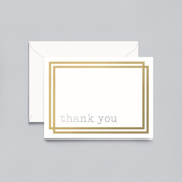 Crane Foil Thank You Note