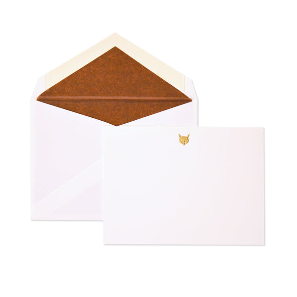 Petite Gold Fox Card