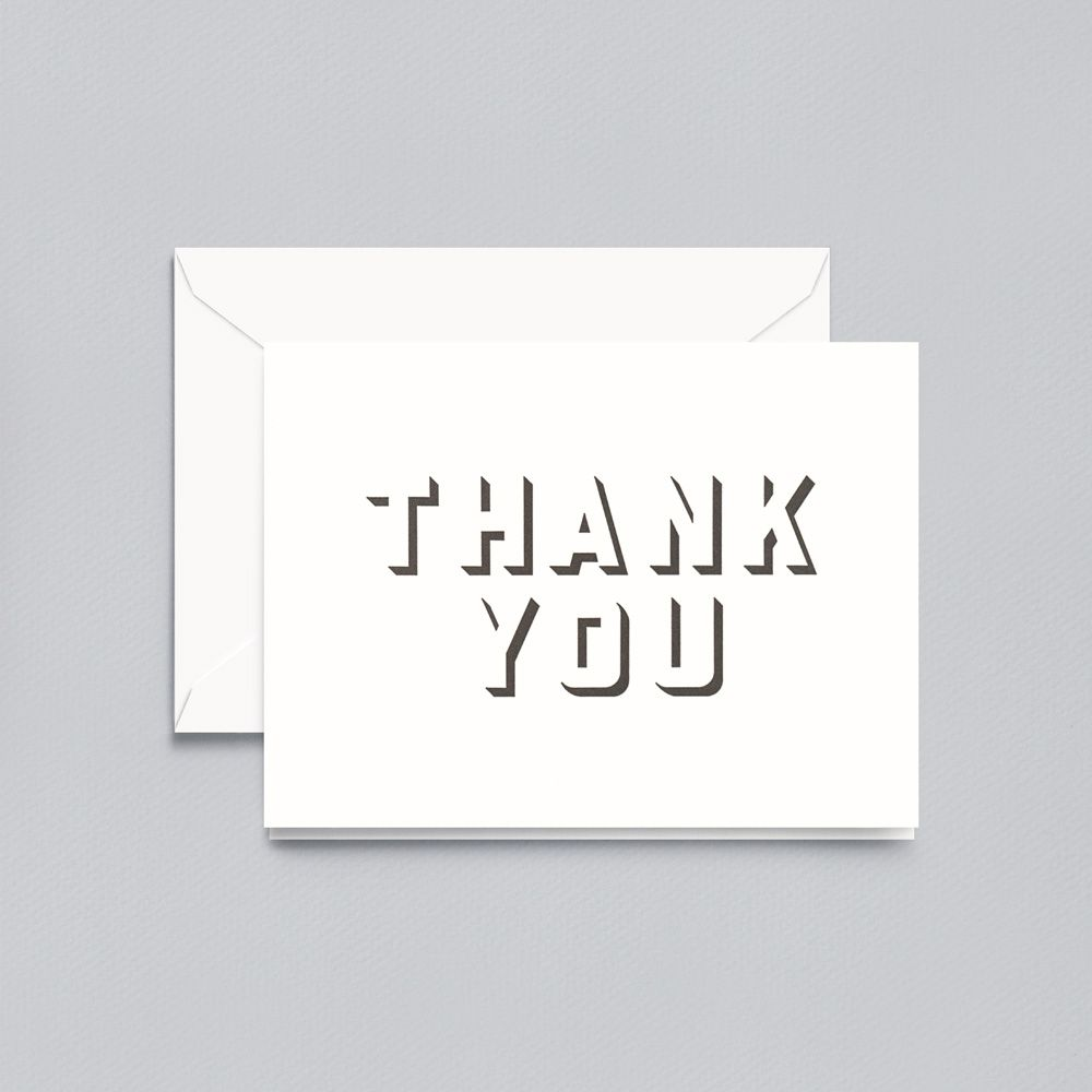 Crane Letterpress Shadow Thank You Note