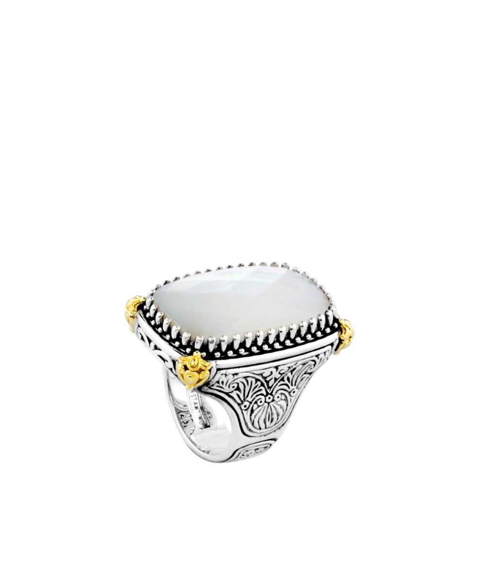 Konstantino Cushion-shaped Mother of Pearl Ring