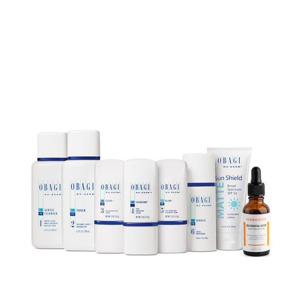 Obagi Nu-Derm Fx System (Normal to Dry) Plus Dermavenue C & E Essential Serum w/ Ferulic Acid