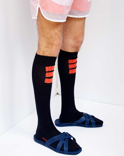 Printed Stripe Sock