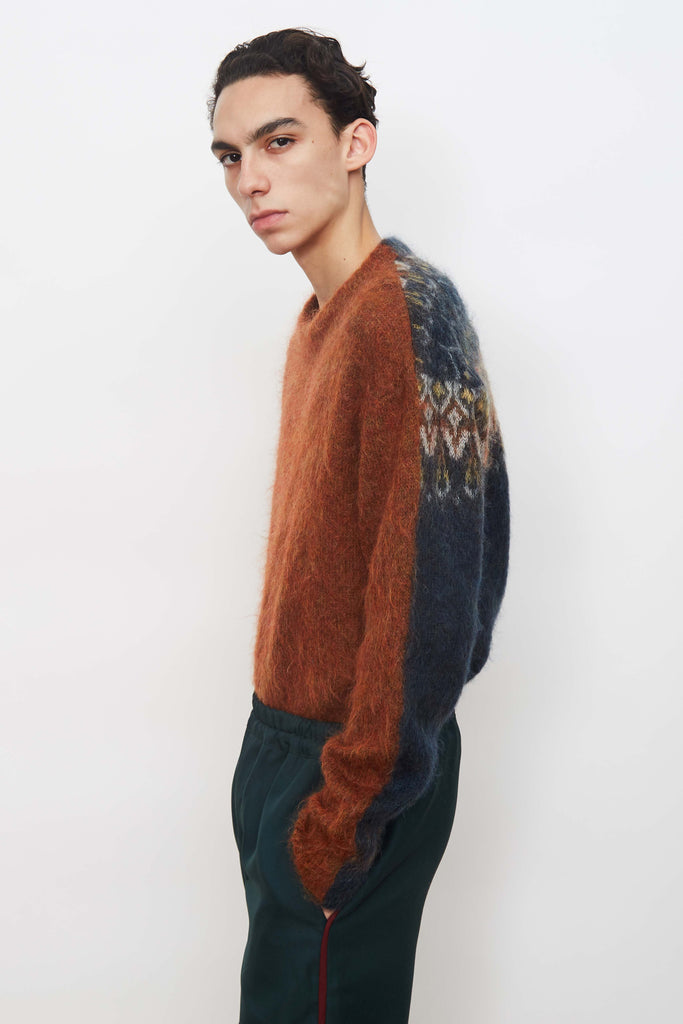 Solid / Fairisle Sweater