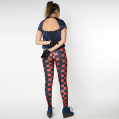 Wearable Art Leggings : Checkmate