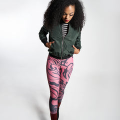 Wearable Art Leggings : Kiwi