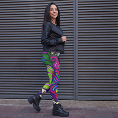Wearable Art Leggings : Transported