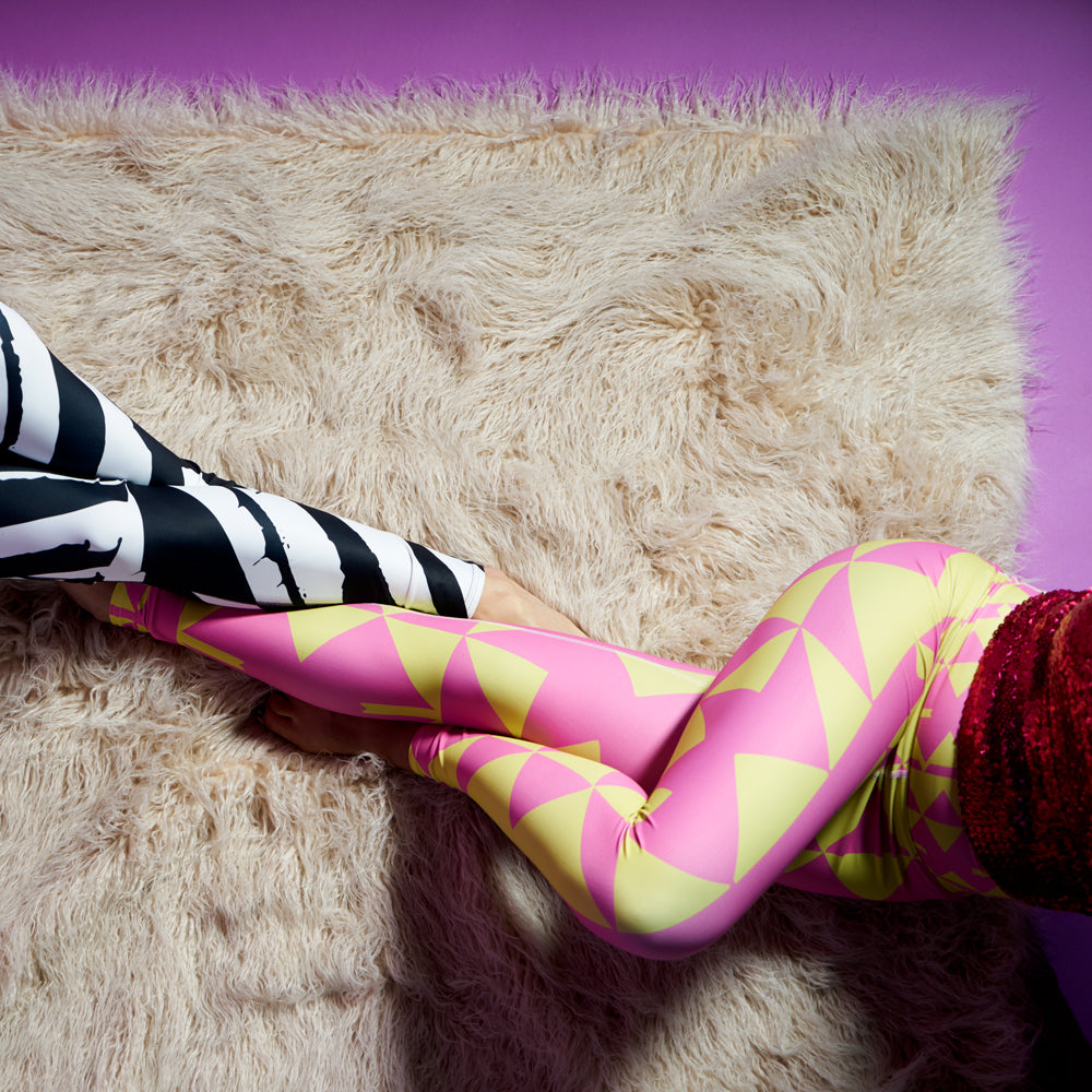 Wearable Art Leggings : Taffy