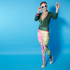 Wearable Art Leggings : Tropicana