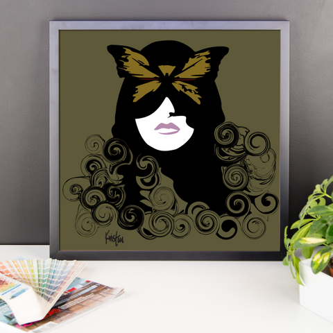 Framed Art Print : Go Ask Alice