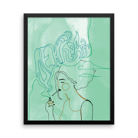 Framed Art Print : Comatose