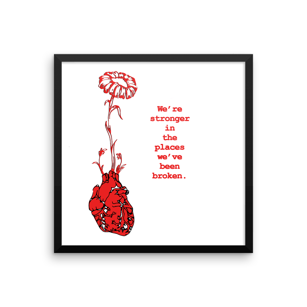 Framed Art Print : Love Grows #2