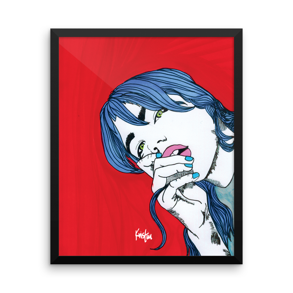 Framed Art Print : Dopamine