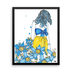 Framed Art Print : Flora