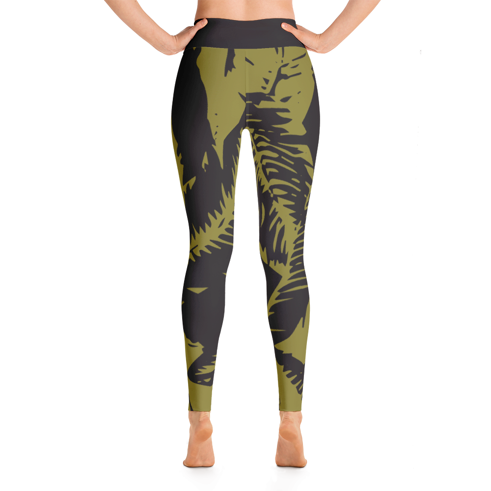 Wearable Art Leggings : Havana
