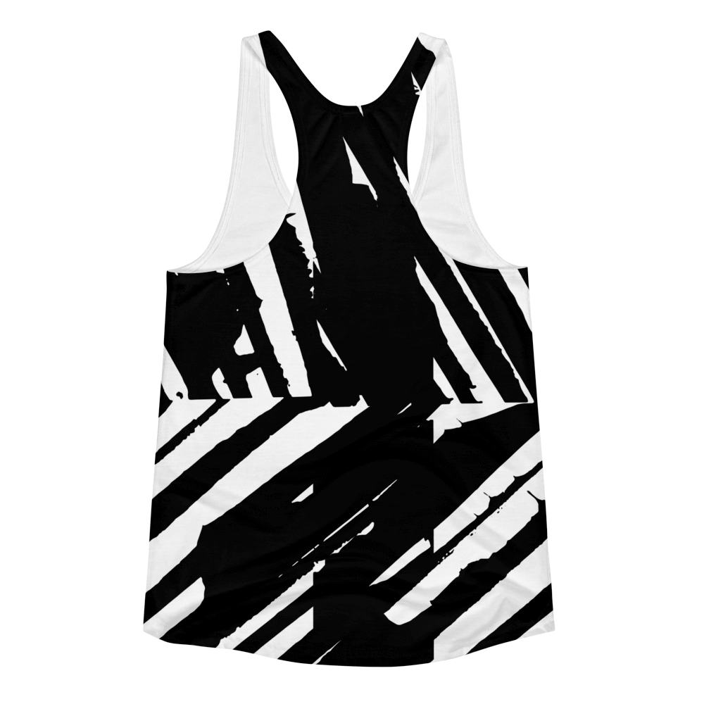 All Over Graphic Racerback : Cosmic Zebra