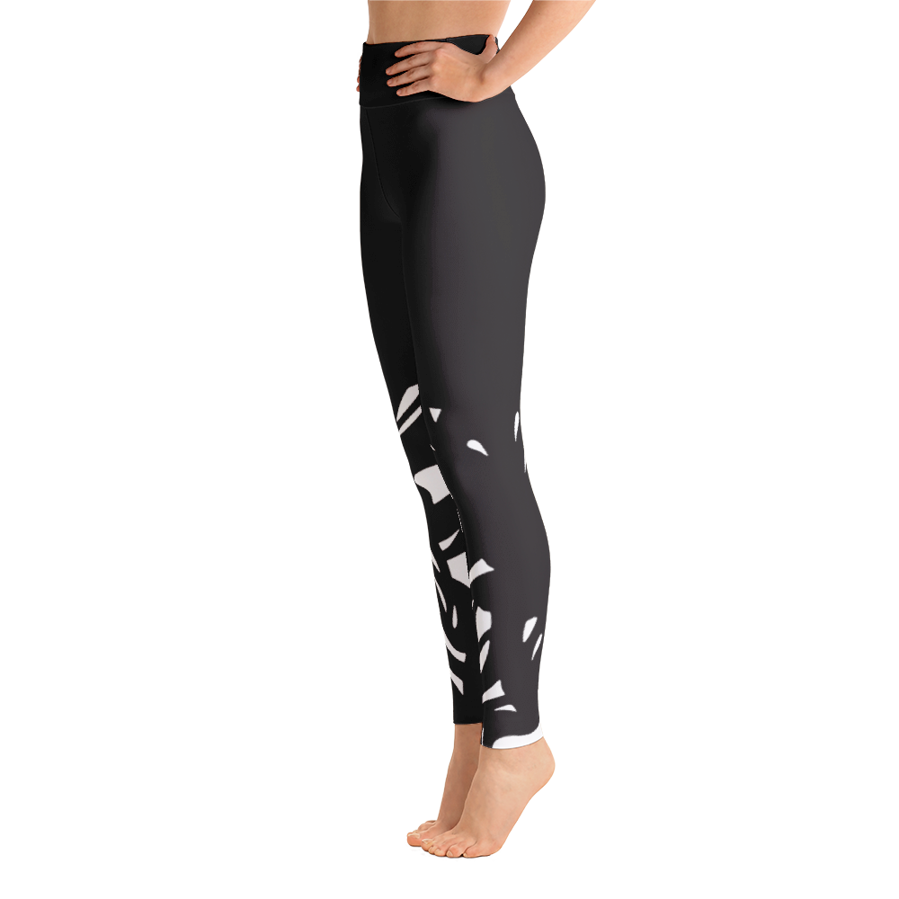 Wearable Art Leggings : Black Rorschach