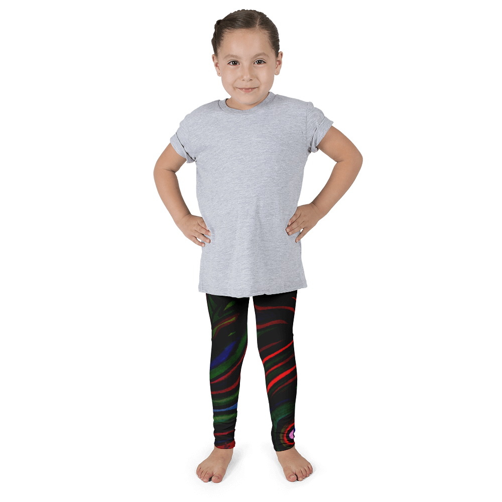 Wearable Art Kid's Leggings : Mini Vortex