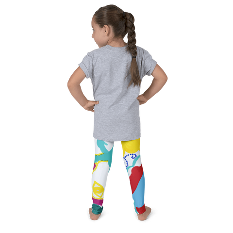 Wearable Art Kid's Leggings : Fruit Salad