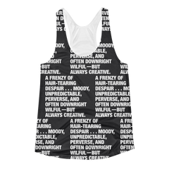 All Over Graphic Racerback : Always Creative