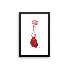 Framed Art Print : Love Grows