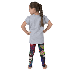 Wearable Art Kids Leggings : Mini-Transported