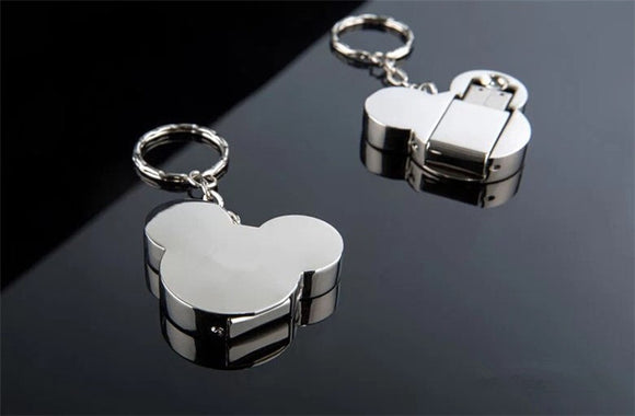 Cute Mickey silver pendrive