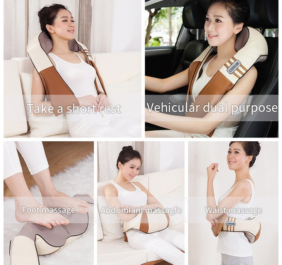 Shiatsu Body Massager Infrared. Heated kneading