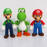 Super Mario, Luigi and Yoshi - 3 pcs