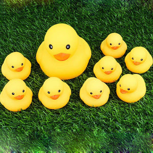 9pcs Rubber Animals bath toy -Duck
