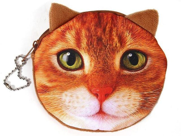 CUTE CAT FACE COIN BAG - Dealzilla shop
