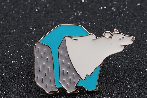 Enamel Pins- Polar Bear - Dealzilla shop