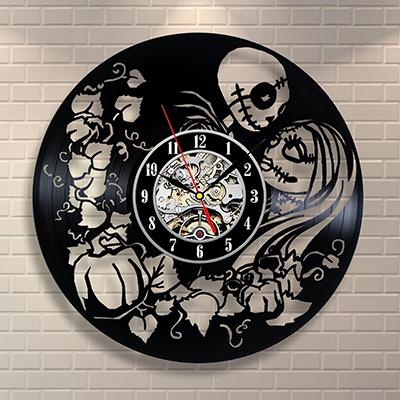 The Nightmare Before Christmas Black Vinyl Record Wall Clock - Dealzilla shop