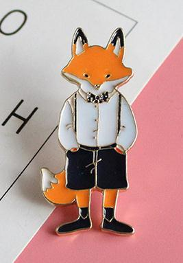 Enamel Pins- Cat Rabbit Fox - Dealzilla shop