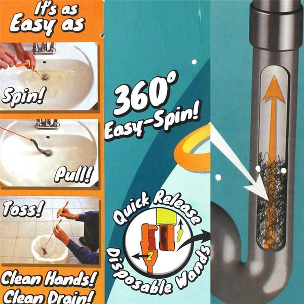 Drain Weasel Hair Clog Tool  Wands Starter Kit for Drain Cleaning - Dealzilla shop