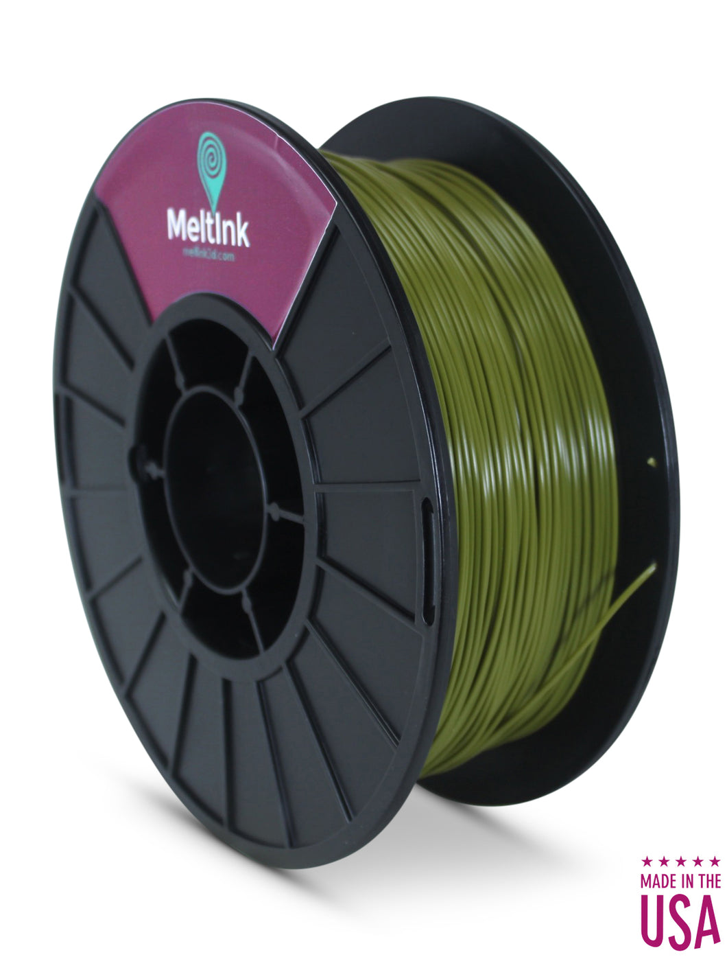 MeltInk3D PLA-1K175CGR05 Command Green PLA 3D Printer Filament Ø 1.75mm, 1Kg, Dimensional Accuracy: ± 0.05mm (Olive)