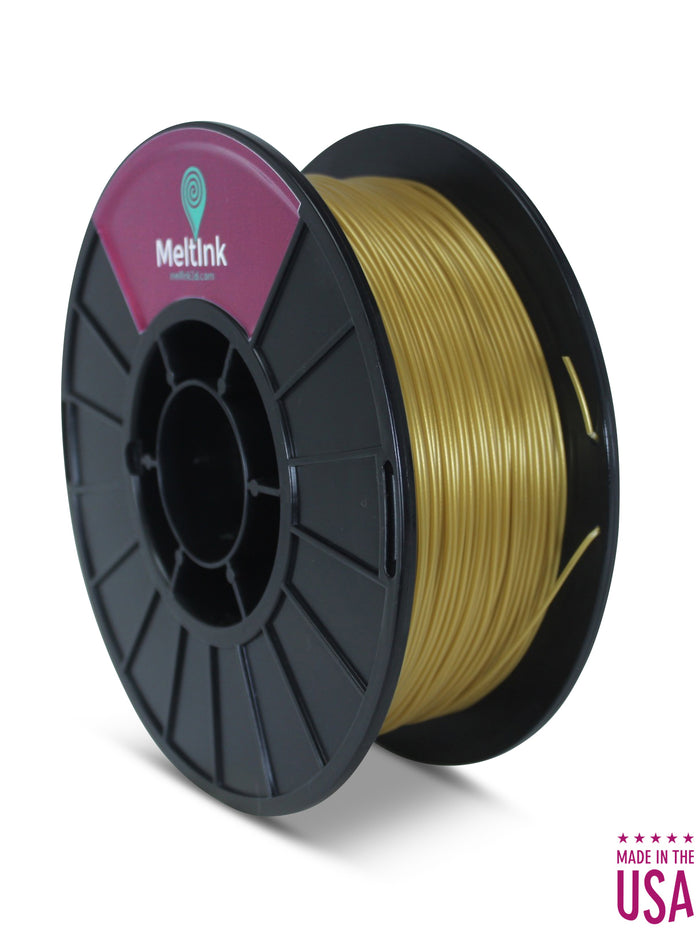 Gold PLA Ø 2.85mm - Meltink 3D
