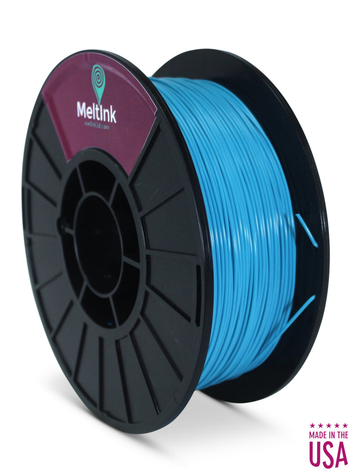 MeltInk3D PHA-1K175NBL05 Neon Blue PLA/PHA 3D Printer Filament Ø 1.75mm, 1Kg, Dimensional Accuracy: ± 0.05mm  (Turquoise)