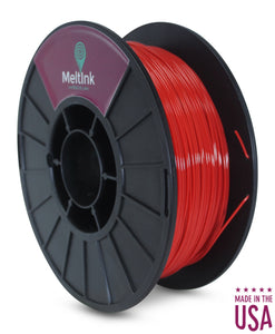 MeltInk3D ABS- 1K175RED05 Red ABS 3D Printer Filament Ø 1.75mm, 1Kg, Dimensional Accuracy: ± 0.05mm