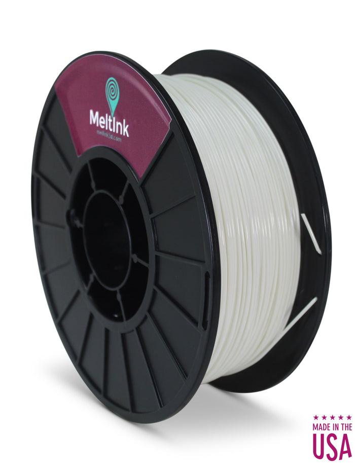 Clearance Transition White/Green PLA  Ø 2.85mm - Meltink 3D