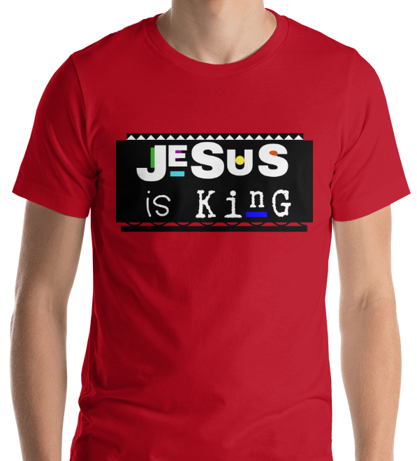 Jesus is King Short-Sleeve Unisex T-Shirt Red