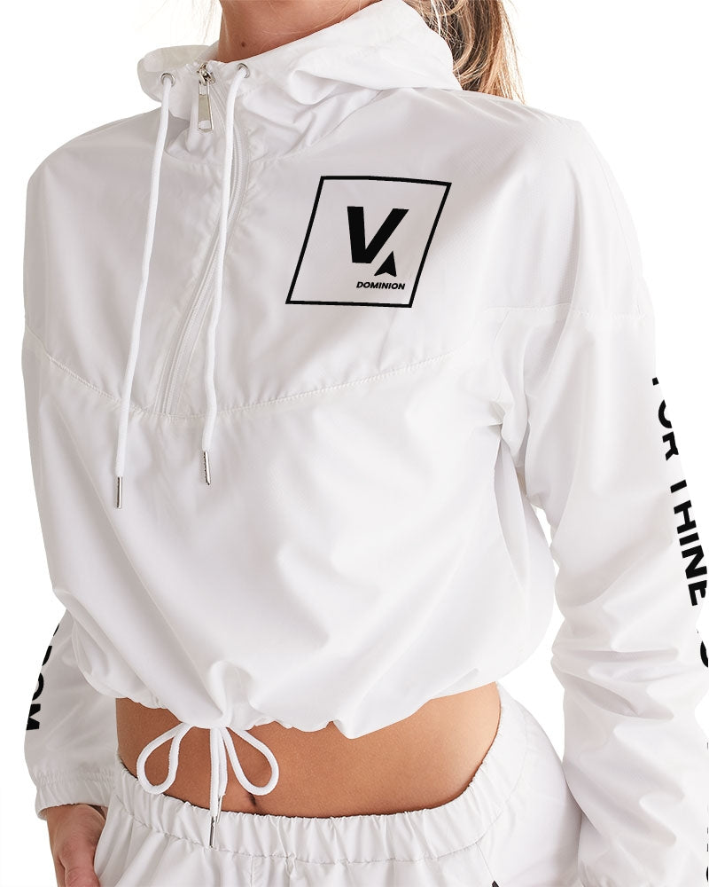 V Star Women's Jacket Cropped Windbreaker