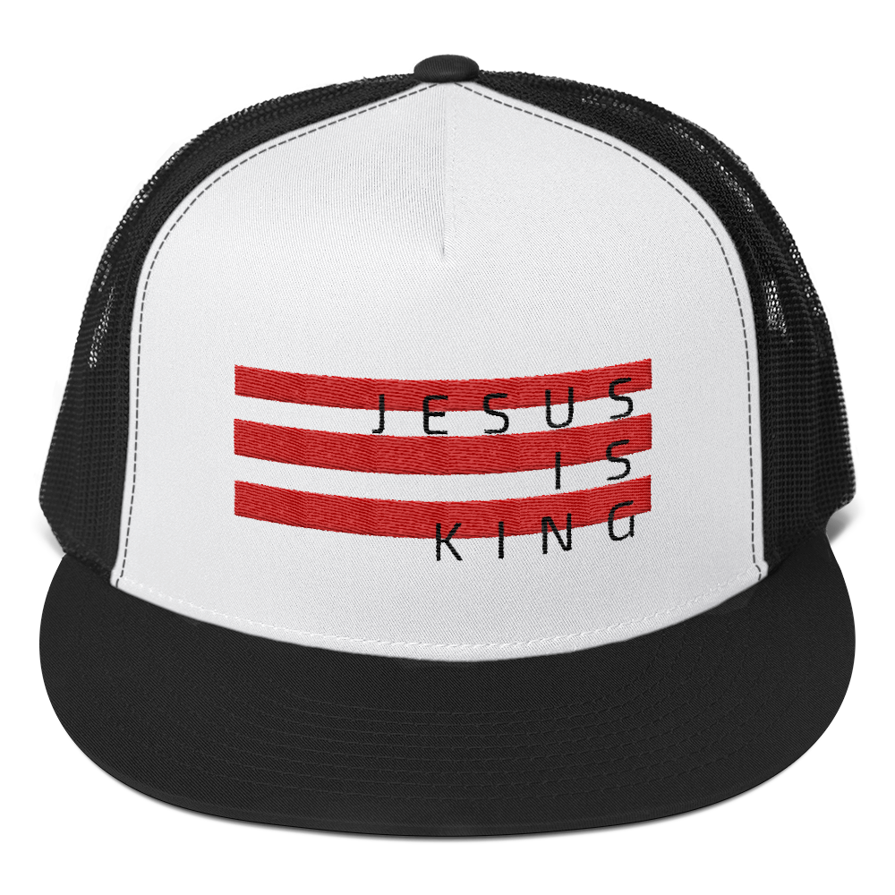 Jesus Nation Stacked Bars Trucker Cap