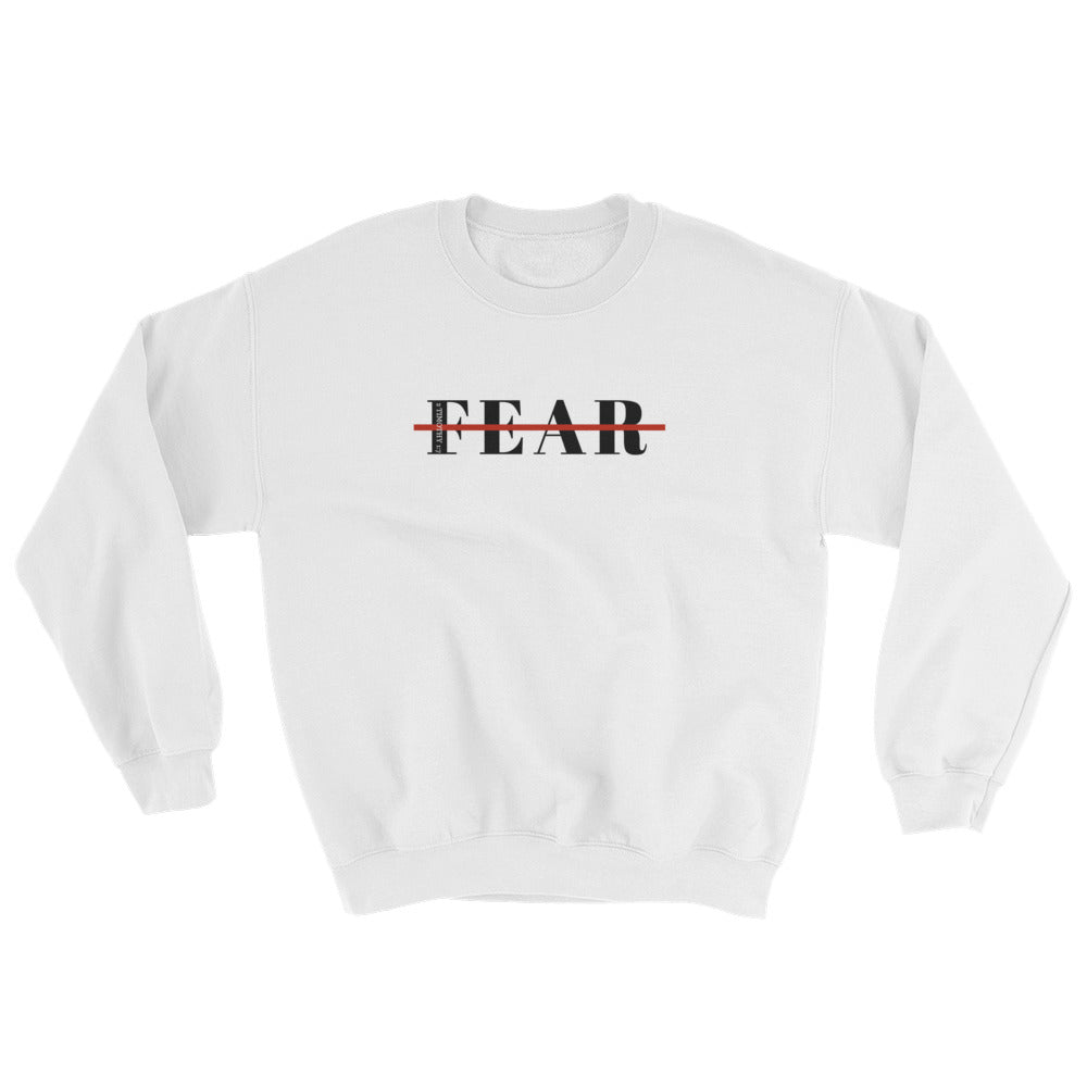 Unisex White Fearless Sweatshirt